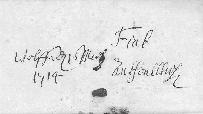 Randverfügung Herzog Anton Ulrichs vom 16.3.1714 (NLA WF 100 N 851)