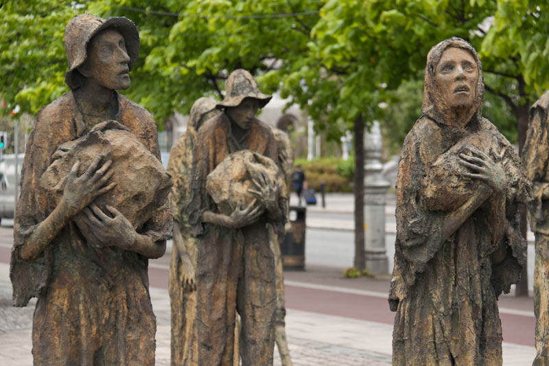 Famine Monument in Dublin, Teilansicht
